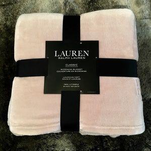 Lauren Ralph Lauren Blush Pink Micromink Blanket